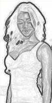 Melanie dessin crayon