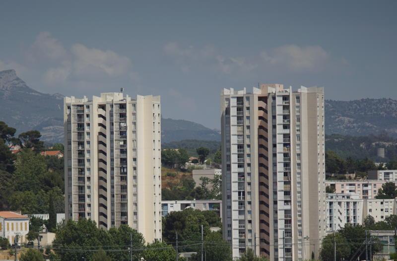 Panorama with gray sky