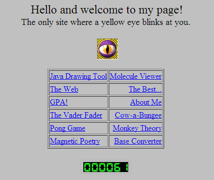 Screenshoot of the first site of Zuckerberg