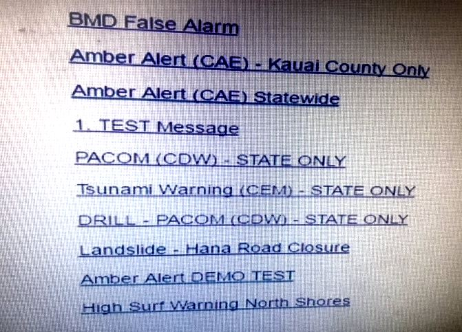 Hawai fausse alerte