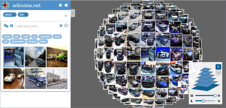 Wikiview3D sphere of images