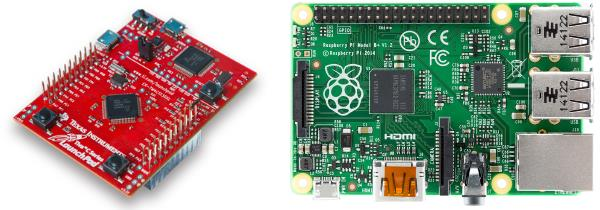 Launchpad TI et Raspberry