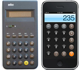 Braun vs iPhone calculators