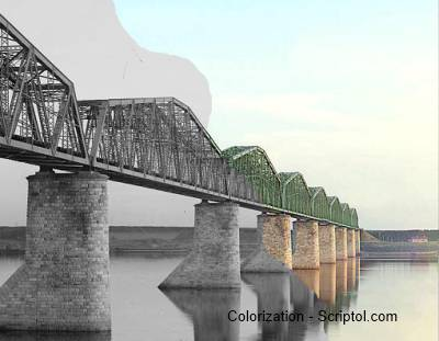 Colorization algorithm,  the bridge