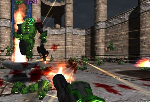 Capture of Unreal Turnament demo in the browser