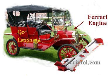 Go programming language, Ford T with Ferrari engine