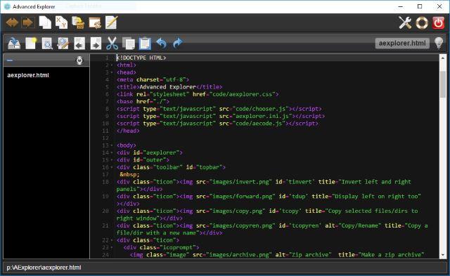 Advanced Explorer éditeur et projet