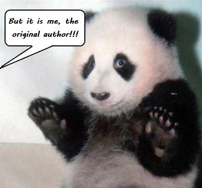 Guilty Panda. How look a panda A quoi ressemble un panda caught in the act